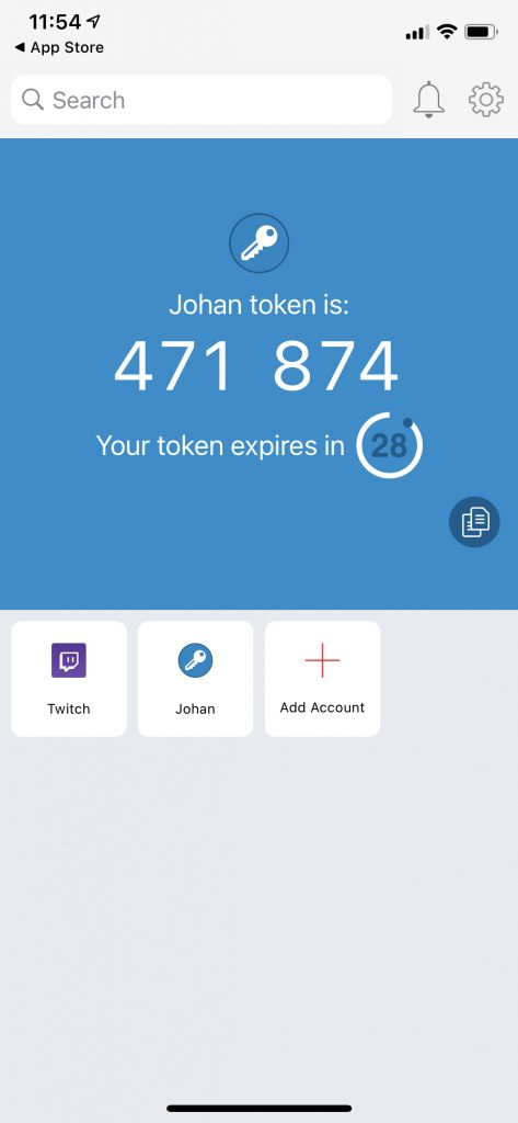 Authy - code